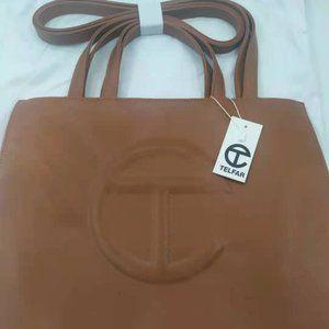 Telfar Medium Tan brown Shopping bag